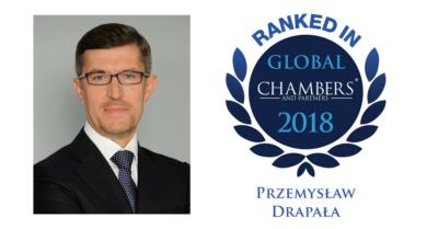 Prof. Przemysław Drapała wyróżniony w prestiżowym rankingu Chambers Global 2018 w kategorii Dispute Resolution