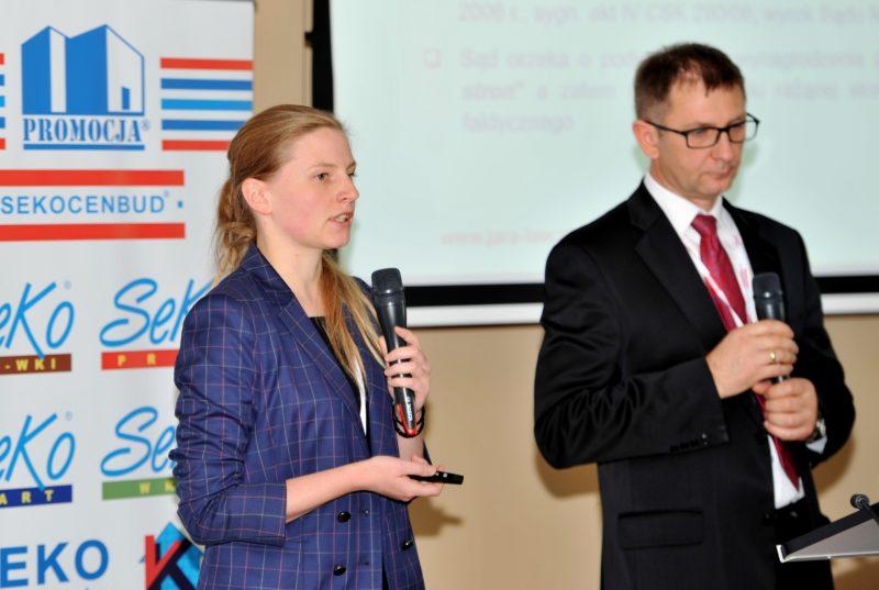 Mec. Andrzej Sokołowski i Mec. Maria Łabno podczas 24 edycji konferencji naukowo-technicznej