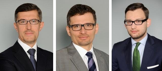 Prof. Przemysław Drapała, Marcin Chomiuk, Mateusz Jaworski
