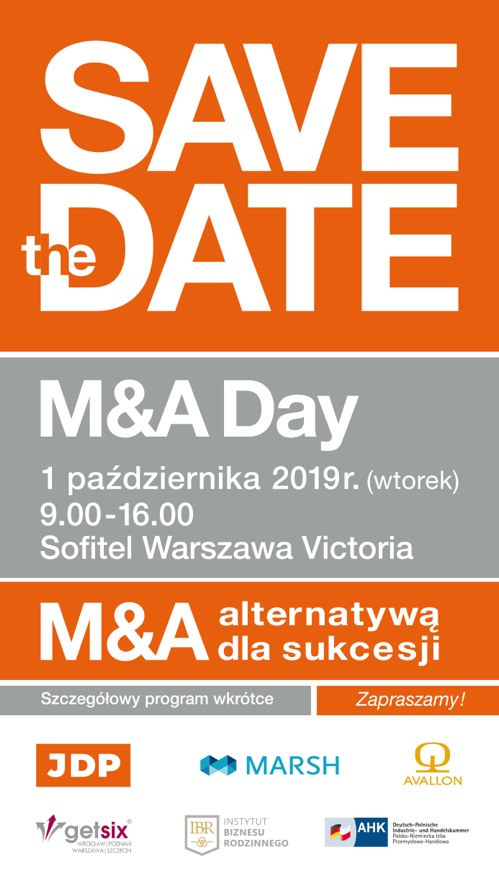 Save the Date - 2. edycja konferencji M&A Day