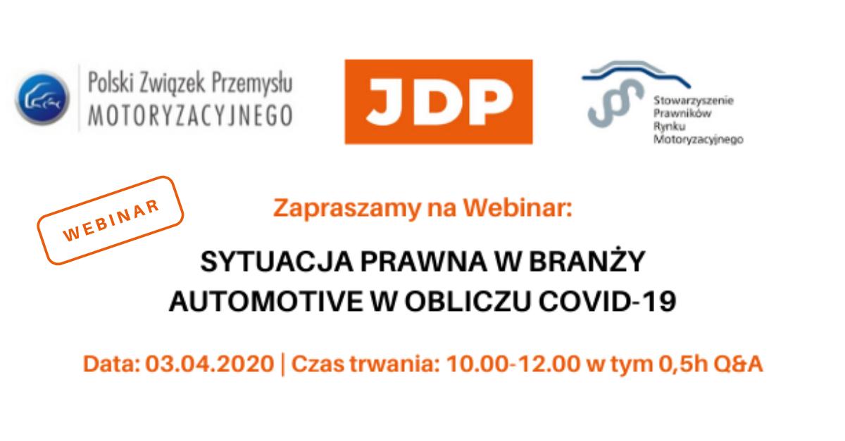 Webinar: Sytuacja prawna w branży automotive w obliczu COVID-19