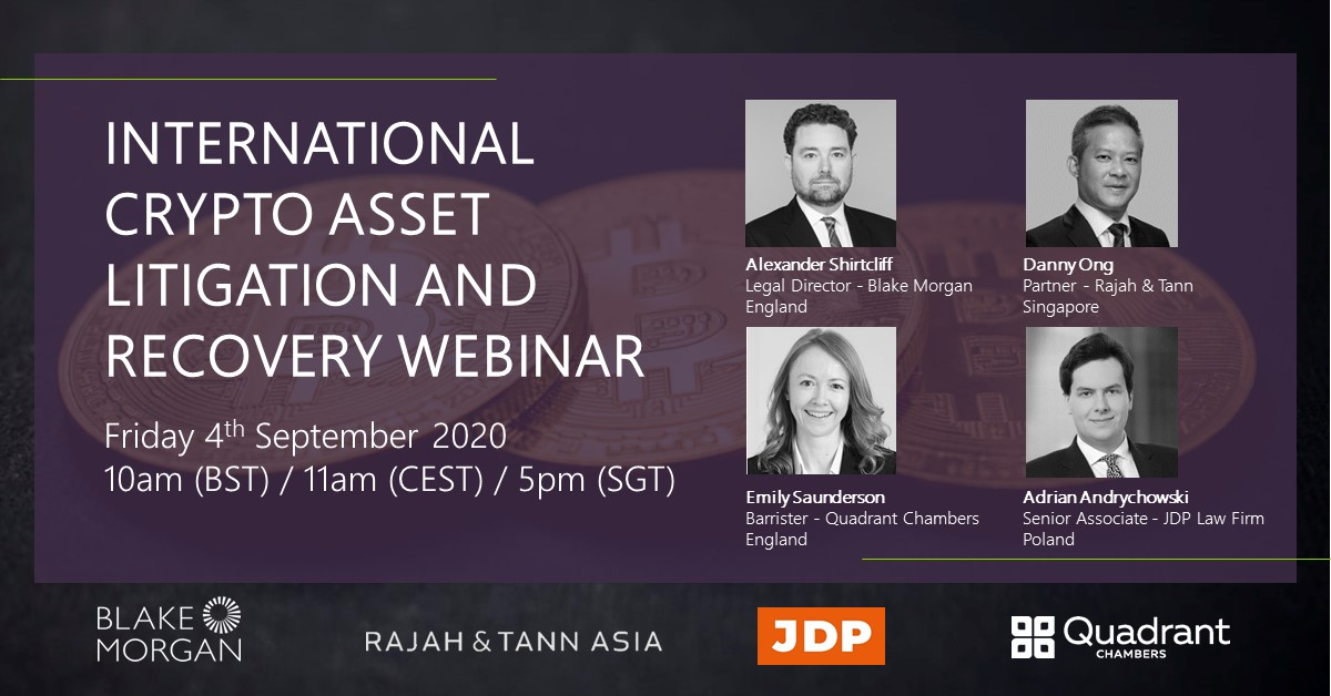 International Crypto Asset Litigation and Recovery Webinar