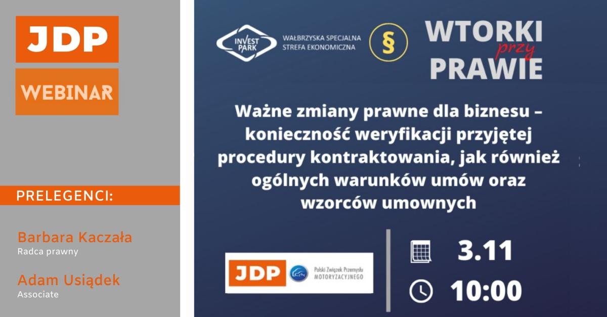 Ważne zmiany prawne dla biznesu | Webinar