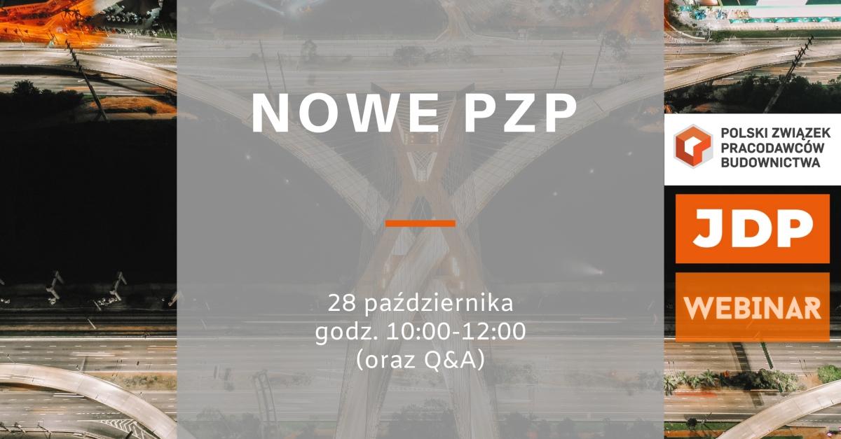 Nowe PZP – Kancelaria JDP i PZPB zapraszają na webinar