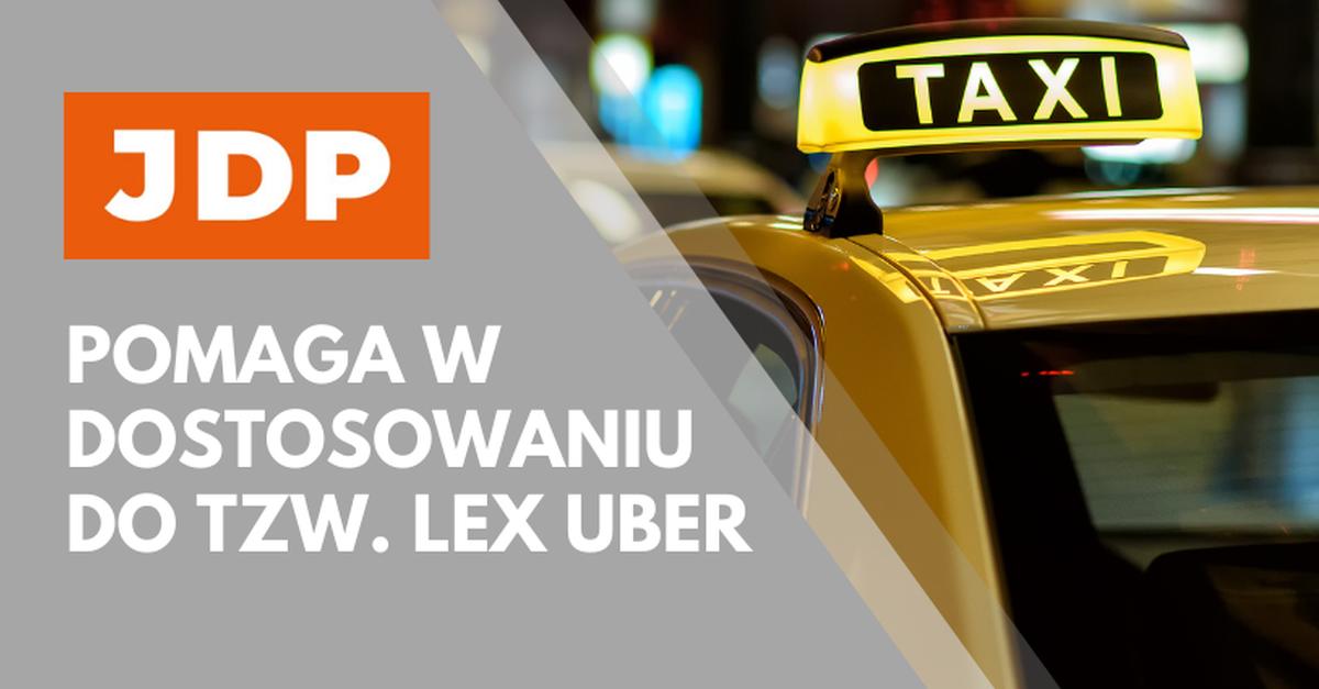 JDP pomaga w dostosowaniu do tzw. Lex Uber