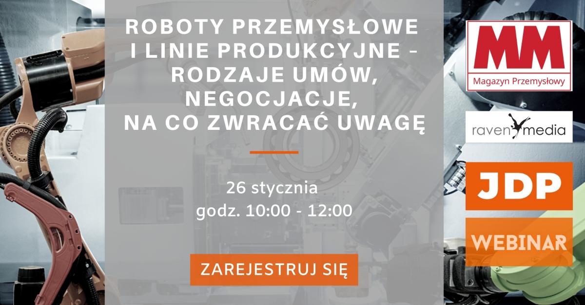 Webinar - Roboty przemysłowe i linie produkcyjne